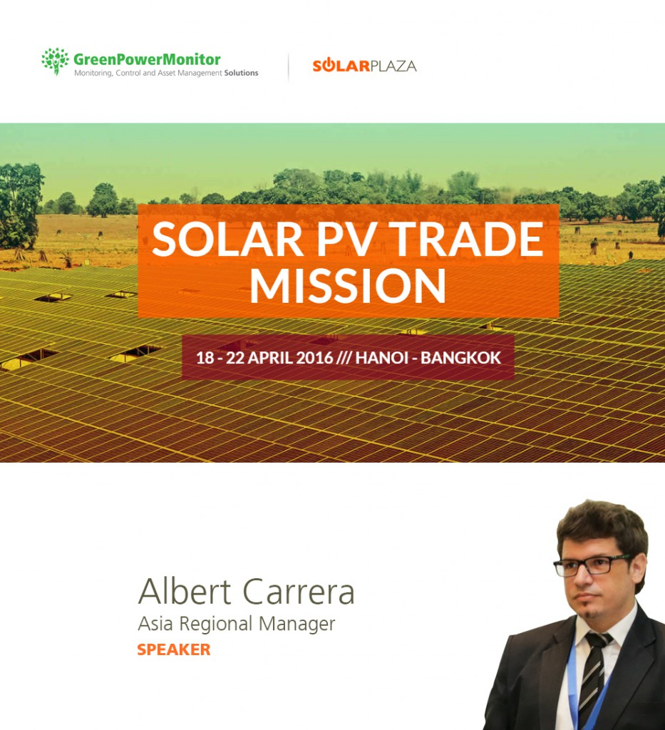 GreenPowerMonitor at Solar PV Trade Mission by Solarplaza