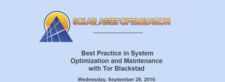 GreenPowerMonitor attends Solar Asset Optimization - web
