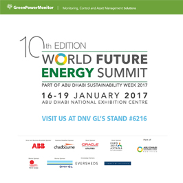 GreenPowerMonitor joins DNV GL at World Future Energy Summit 4 - imagen destacada