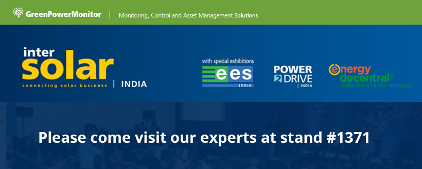 GreenPowerMonitor joins DNV GL at Intersolar India 2017