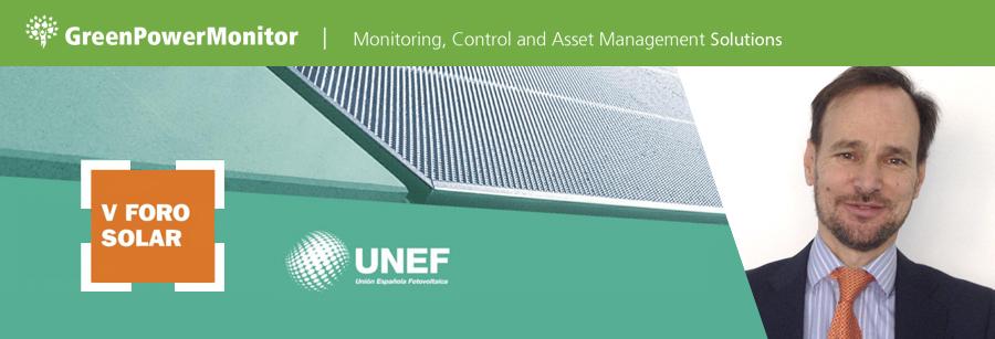 GreenPowerMonitor aparticipa en V Foro Solar de UNEF