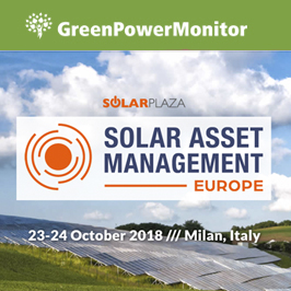 GreenPowerMonitor attends and sponsors Solar Asset Management Europe by Solar Plaza with Humberto Roca 2018 - imagen destacada