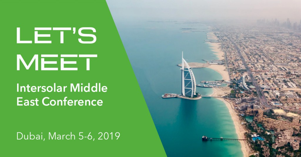 GreenPowerMonitor attends Intersolar Middle East Conference 2019 in Dubai - Linkedin