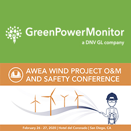 GreenPowerMonitor speaking at AWEA Wind Project O&M and Safety 2020