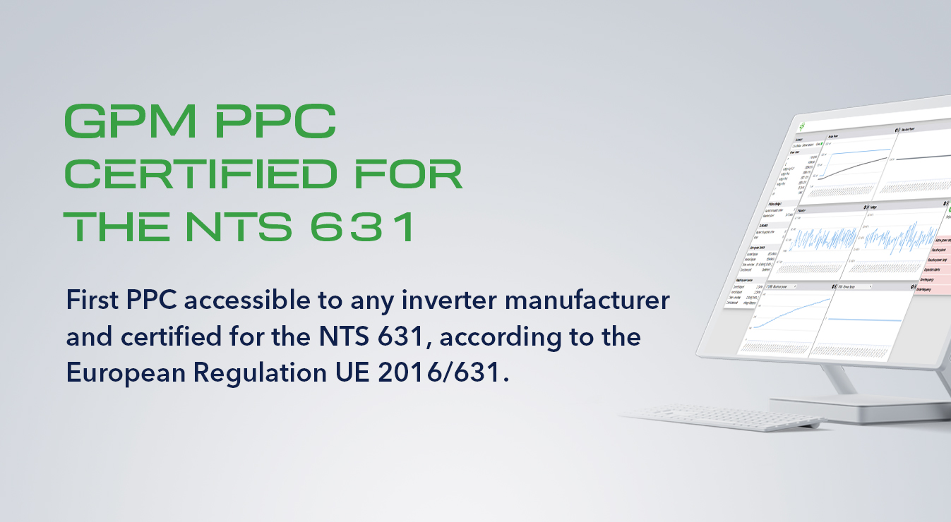 GreenPowerMonitor_GPM PPC_first PPC certified by CERE according to NTS 631 and European Regulation UE 2016_631