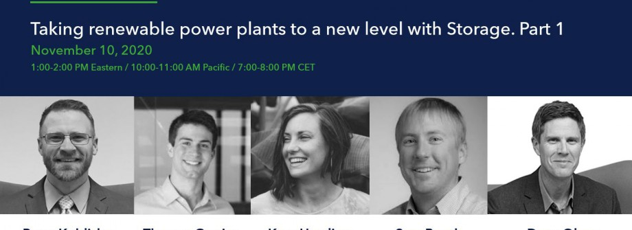The Green Talks Vol. 2 - Taking Renewable Power Plants to a New Level with Storage: Part 1